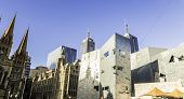 MELBOURNE, AUSTRALIA - CIRCA JAN 2014: Iconic Federation Square in Melbourne, Australia.