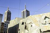 MELBOURNE, AUSTRALIA - CIRCA JAN 2014: Iconic Federation Square in Melbourne, Australia.