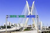 Octavio Frias Bridge in Sao Paulo, Brazil