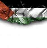 Palestine waving flag on white background