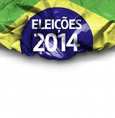 2014 Election in Brazil (Portuguese: Eleicoes 2014) on white background