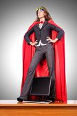 stock photo of superwoman  - Businesswoman in superwoman concept - JPG