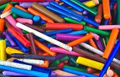 foto of pastel colors  - Bunch of very used wax crayons - JPG