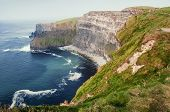 pic of cliffs moher  - Famous cliffs of Moher in County Clare Ireland Europe - JPG
