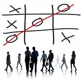 image of tic-tac-toe  - Tic Tac Toe Game Competition XO Win Challecge Concept - JPG