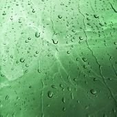 stock photo of malachite  - Malachite marble texture background with Water Drops - JPG