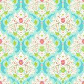 pic of damask  - Floral colorful damask seamless pattern - JPG