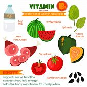 stock photo of sunflower  - Vitamins and Minerals foods Illustrator set 6 - JPG