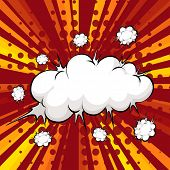 foto of slang  - Modern design of cloud explosion with writing space - JPG