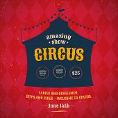 picture of tent  - Poster for the circus - JPG