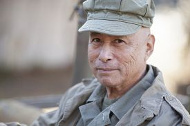 image of veterans  - portrait of veteran in world war two uniform - JPG