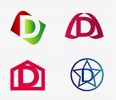 stock photo of letter d  - Vector set of abstract icons based on the letter d - JPG