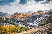 foto of dam  - Srinagarind Dam - JPG
