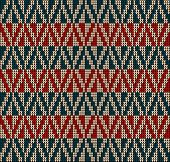 picture of knitting  - Fair Pattern sweater design on the wool knitted texture - JPG