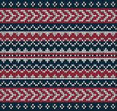 stock photo of knitting  - Fair Pattern sweater design on the wool knitted texture - JPG