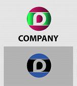 stock photo of letter d  - Set of letter D logo icons design template elements - JPG