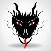 foto of dragon  - Dragon logo vector design template - JPG