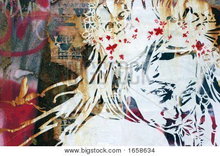 Постер, плакат: Абстрактная живопись , холст на подрамнике