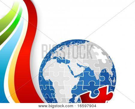 Постер, плакат: головоломки планеты Земля, холст на подрамнике