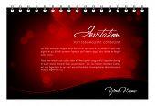 Tarjeta de la invitación de San Valentín de Vector - tarjetas de felicitación o plantilla de menú