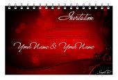 Vector Invitation Card - Greeting Card or Menu Template