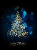 Glittering Christmas Tree | EPS10 Vector Greeting