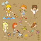 bosquejo de las niñas