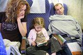Family In Plane