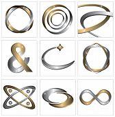 Conjunto de símbolos de metales