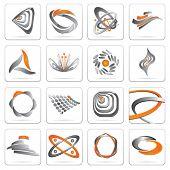 set of metal symbols