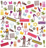 padrão de símbolos de Páscoa