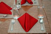 stock photo of table manners  - arrangement of the dining table at a restaurant - JPG