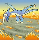Funny pterodactyl