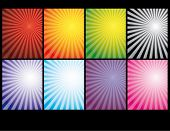 Vector version. Christmas and holiday background. The outbreak. Rays