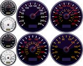 Vector speedometer American and European