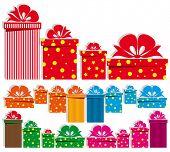 Set of gift boxes design elements. (Vector version  22959727) poster