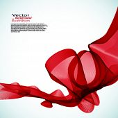 Vector Red smoke.