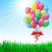 image of happy birthday  - Beautiful Party Balloons Vector - JPG