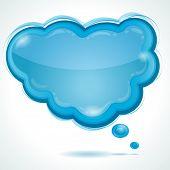 Cloud glossy speech bubble