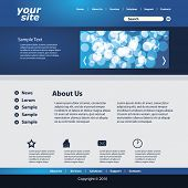 Abstrakt Business Web Site Design Vorlage Vektor