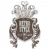 Vector retro shield