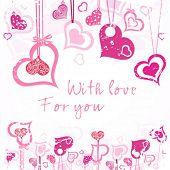 Love card. Vector.