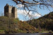 Neidpath Castle near Peebles in Scotland