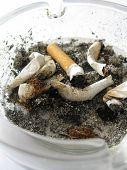 Dirty full ashtray