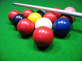 Billiards Balls On A Green Table