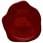 picture of wax seal  - Coliseum - JPG