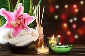 picture of sansevieria  - Spa still life with essential oil - JPG