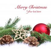 picture of christmas ornament  - Christmas ornament on white background - JPG