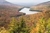 View of lake and fall foliage from Owls Head