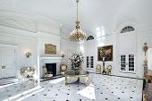 Large grand foyer in luxury home